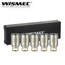 Original 5pcs WISMEC NS Triple Coil Head for WISMEC Elabo/Divider Tank Atomizer 0.25ohm Support 40W-120W to Large Amazing Flavor
