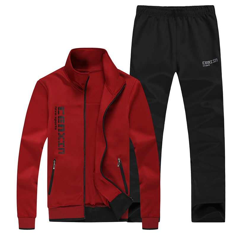 2017 Fall Winter Cotton Men Sweatshirt Pants Set Sportwear Hoodies Men Tracksuit hoodie Cardigan men Couple Sets