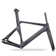 Бренд углеродная велосипедная рама полностью углеродная велосипедная Трансмиссия Frameset 25c односкоростная углеродная велосипедная Рама