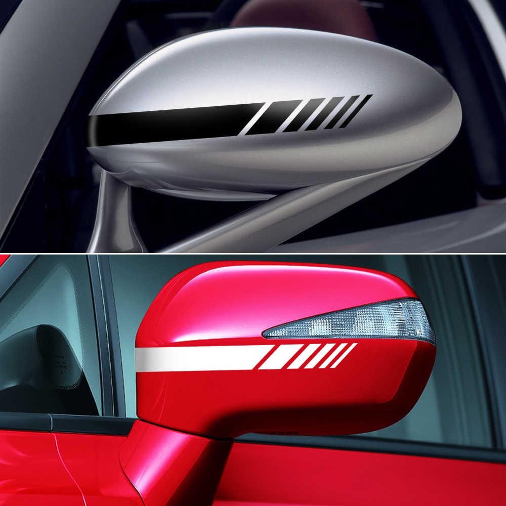Adesivo retrovisor para bmw e46 e60, espelho decalque lateral, ford focus 2 kuga mazda 3 cx-5 vw polo golf 4 5 6 jetta passat