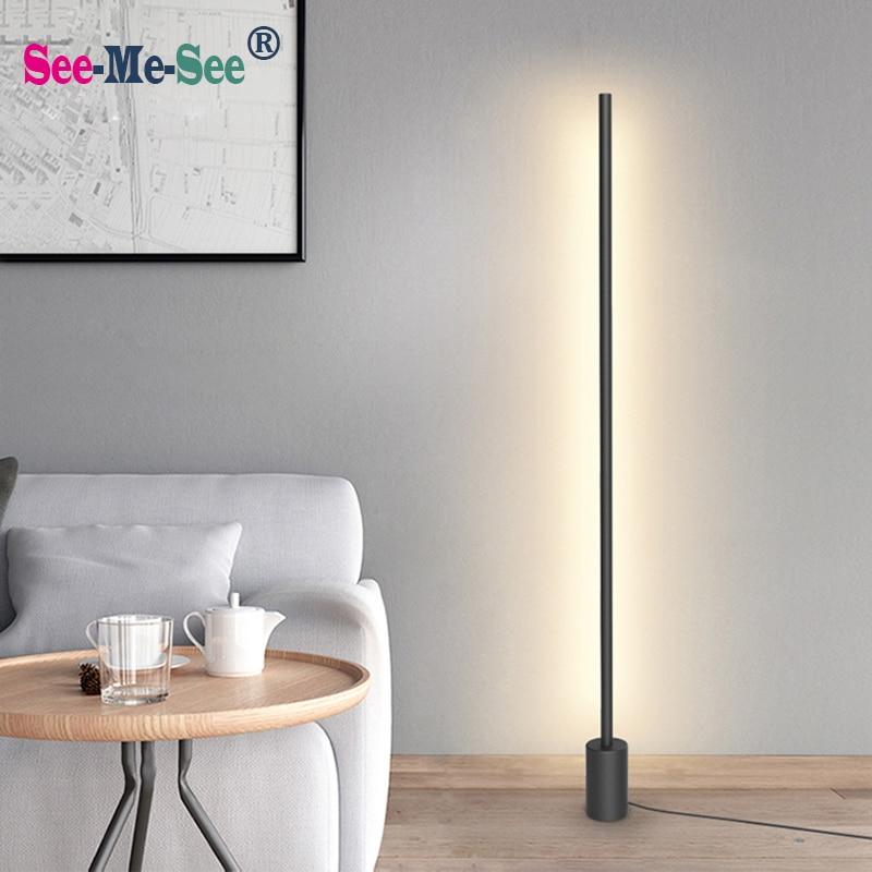 Les lampes debout nordiques minimalistes modernes ont mené des lumières de plancher créatives pour des lampadaires menés par salon