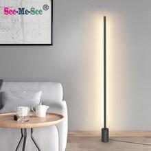 מודרני מינימליסטי נורדי עומד מנורות led רצפת אורות Creative לסלון Led רצפת מנורות