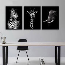 Animal Paintings Wall Art Nordic Canvas Painting Picture Lion Zebra  Living Room Decor Unframed