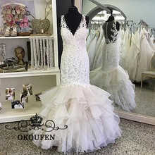 OKOUFEN Fabulous Appliques Lace Wedding Dresses For Women