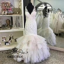 OKOUFEN Fabulous Appliques Lace Wedding Dresses For Women