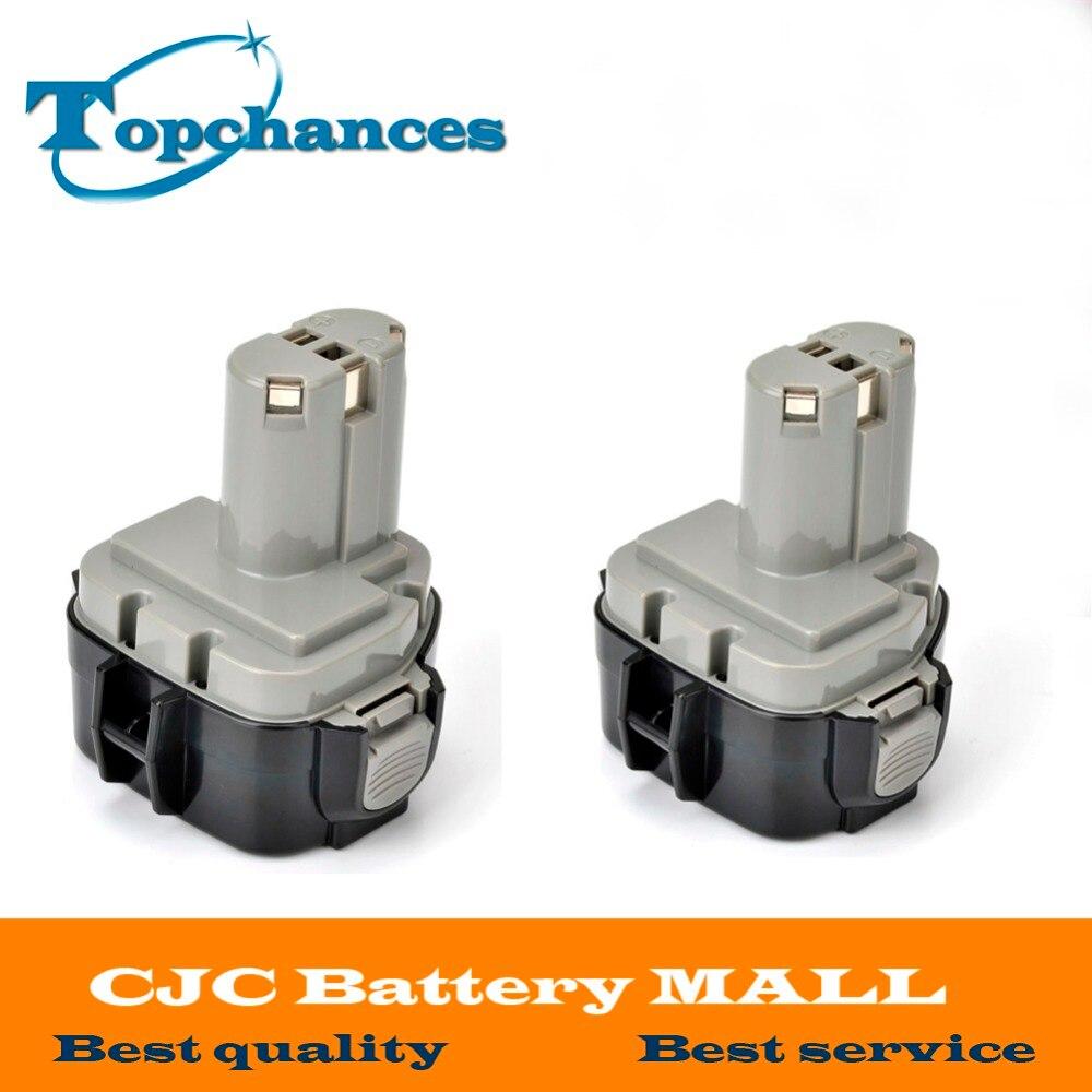 High Quality 2pcs 12V 3 0Ah 3000mAh Ni MH Battery for MAKITA 1234 1235F 193138 9