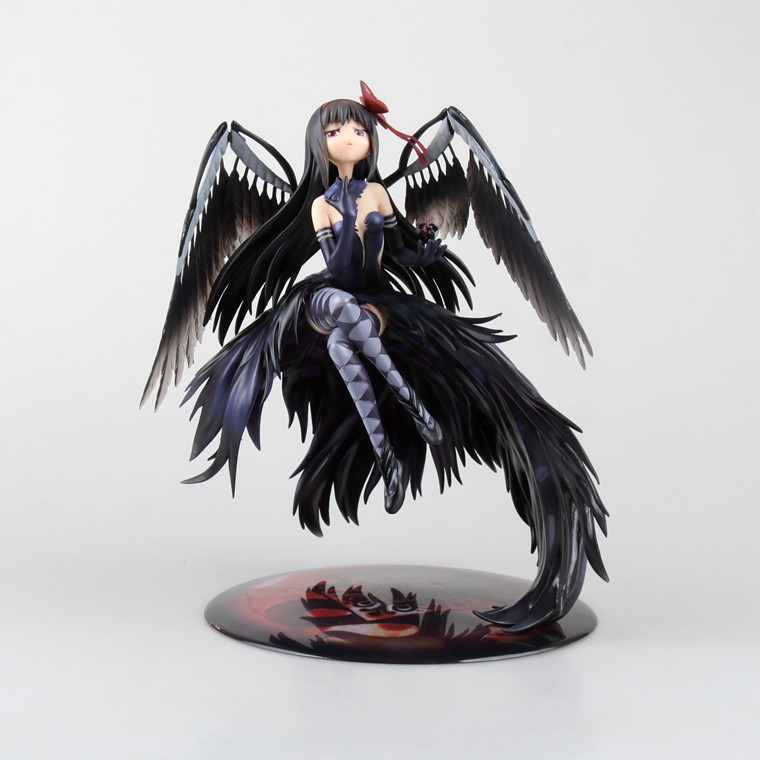 Huong Movie Figure 24 CM Puella Magi Madoka Magica Akemi Homura Devil 1/8 Scale PVC Action Figure Toy Model Collectibles аниме фигурка madoka kaname