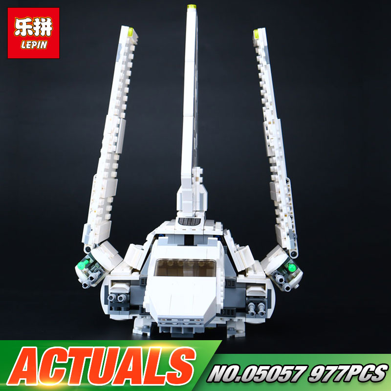 Lepin 05057 937Pcs Star Series War New The Fighting Shuttle Set Model Building Kit Blocks Bricks Toy Gift With 75094 rollercoasters the war of the worlds