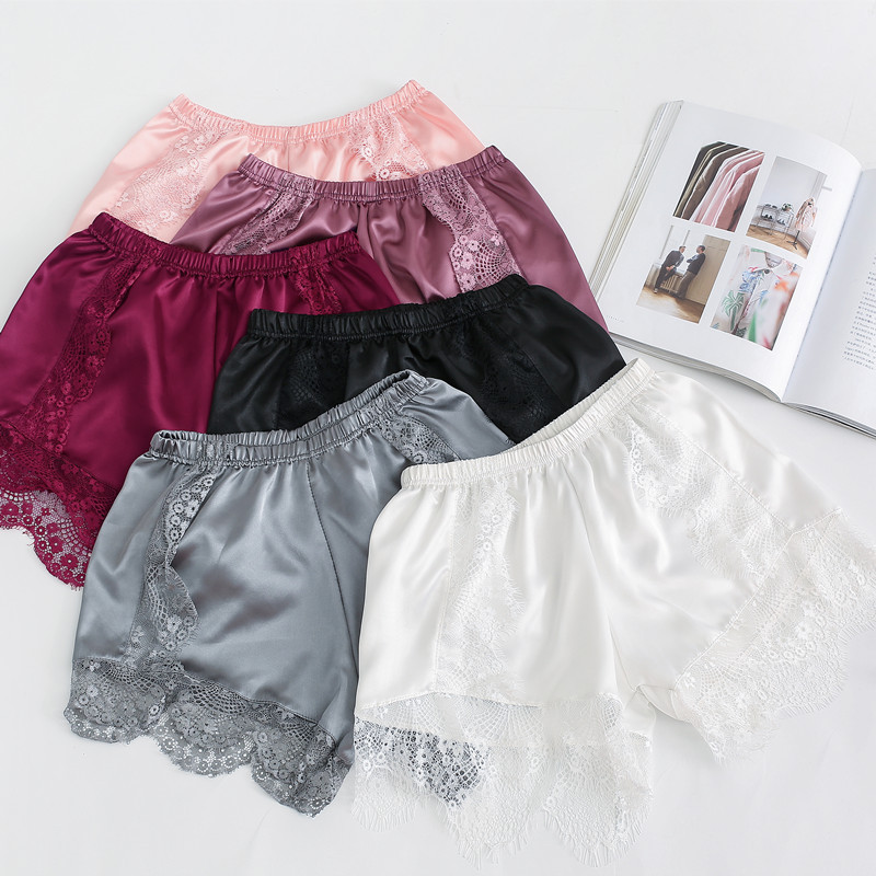 Women's Safety Short Pants Solid Color Lace Shorts Thin Loose Sweet Safety Shorts 2019 Breathable Summer Underwear Females Cloth