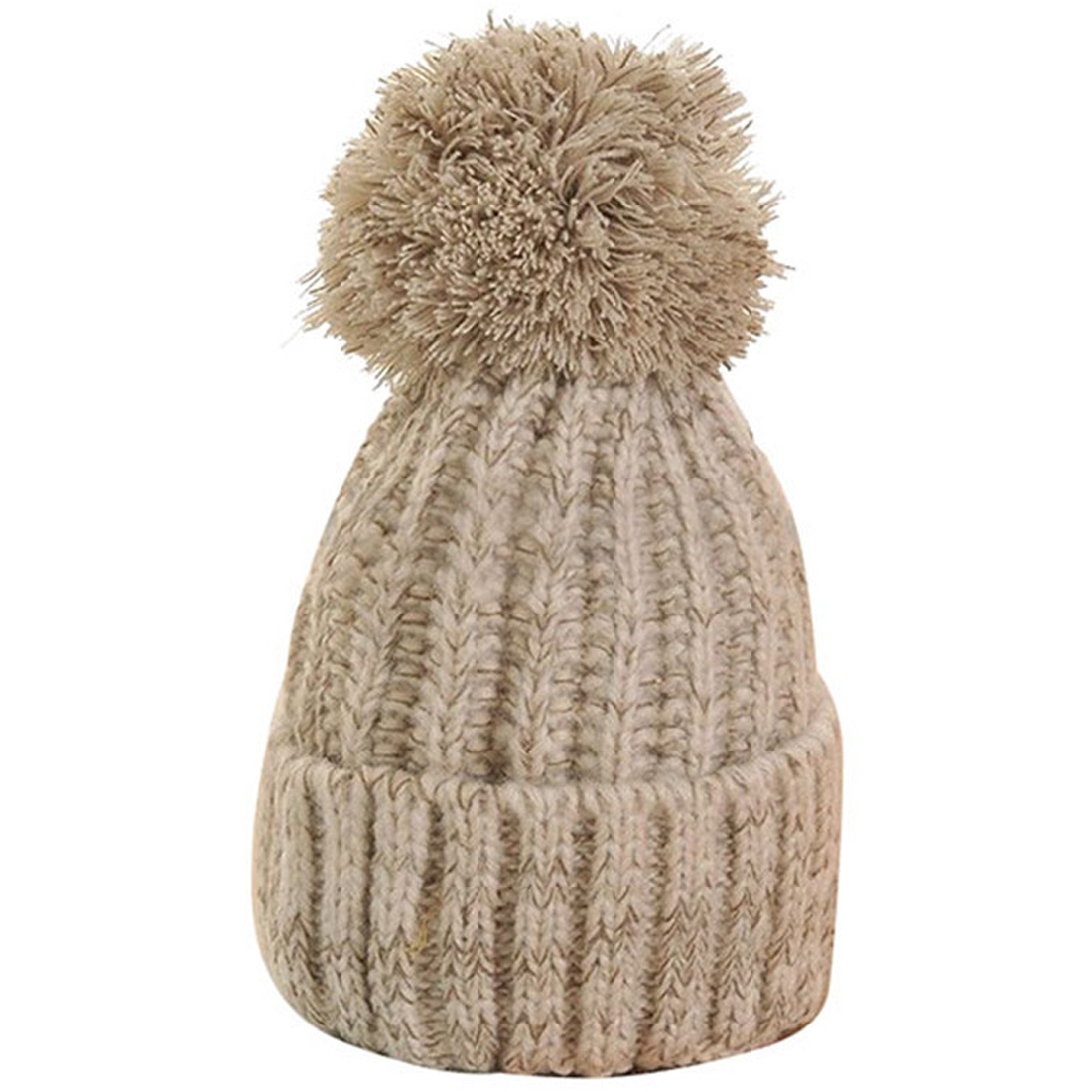 Autumn And Winter Trend Color Matching Hood Simple Knit Hat New Striped Hair Ball Cap Outdoor Warm Casual Wild Ladies Wool Cap in Women 39 s Skullies amp Beanies from Apparel Accessories