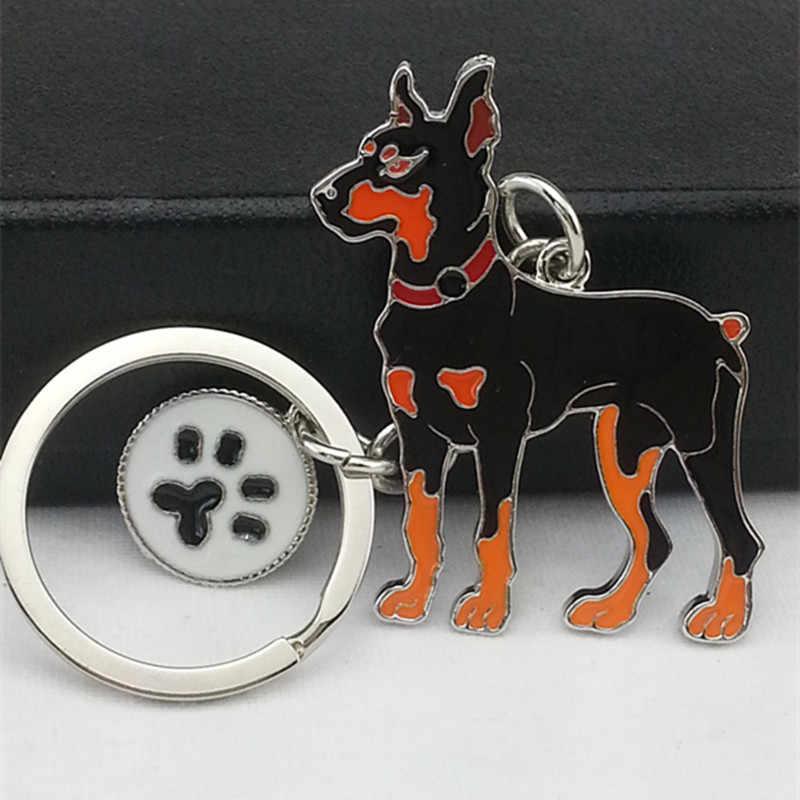 Anahtarlık Severler Moda Yenilik Takı Moda Köpek anahtarlıklar Yılbaşı Hediyeleri Köpek Metal Charm anahtar zincirleri En Iyi Arkadaşı