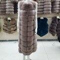 Лисий мех женщин роскошные длина 110 см лиса куртки в основном подходит для новый жилет-платье куртки пальто