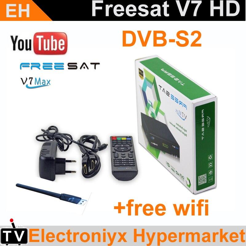 1PCS receiver Freesat V7 MAX full hd DVB S2 satellite