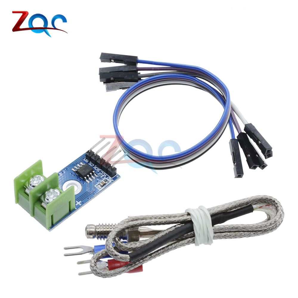 1Set MAX6675 K-type Thermocouple Temperature Sensor -200~1300C Range SPI Module 4Pins Wire 5V DC For Arduino