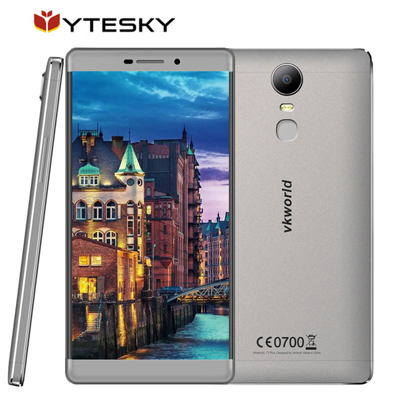 Цена за VKworld T1 Плюс Мобильный Телефон 6.0 Дюймов Андроид 6.0 1280x720 HD MTK6735 Quad Core 2 ГБ RAM 13MP Металла Корпусных Отпечатков Пальцев ID 4 Г LTE