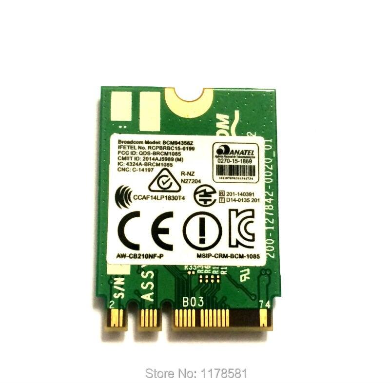 Original Wireless WIFI Card NGFF 802 11AC 867Mbps Broadcom BCM94356Z WIFI  Bluetooth Wireless AC BT 4 0 Network Wlan adapter-in Network Cards from