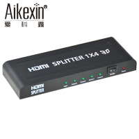 Aikexin HDMI Splitter 1x4 4K 1 In 4 Out Ultra 4 Way HDMI Splitter V1 3