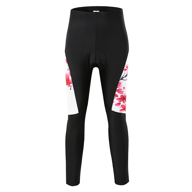 Women Cycling Pants Bicycle Tights Sportswear Women Bike Long Pants Winter Riding Cycling Clothing Padded Tight Pants Trousers