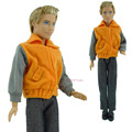 2016 NEWEST FREE SHIPPING 1 Set Handmade sportswear Fashion Outfit Clothes for Prince Ken Male Dolls Nice baby Gifts hot Selling
