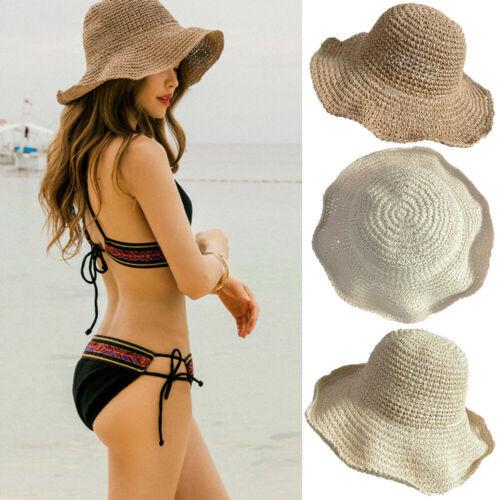 Foldable Summer Straw Beach Hat