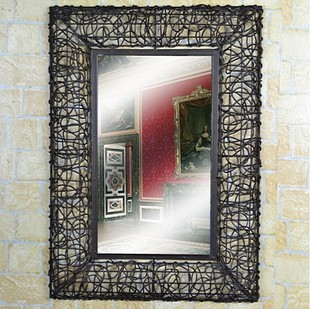 Perfect Iron Frame Mirrors Wrought Dressing Mirror Tieyi Rattails Picture Bathroom