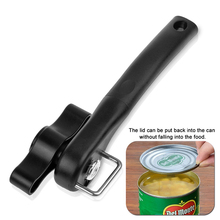 1pcs Household Kitchen Tools Easy Manual Metal Can Opener Professional Effortless Stainless Steel Openers with Turn Knob K0423