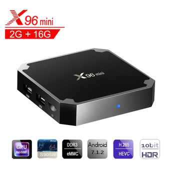 X96 Mini Android 7.1 TV BOX 2GB 16GB Amlogic S905W Quad Core Suppot H.265 UHD 4K 2.4GHz WiFi X 96 Mini Set-top Box - DISCOUNT ITEM  50 OFF Consumer Electronics