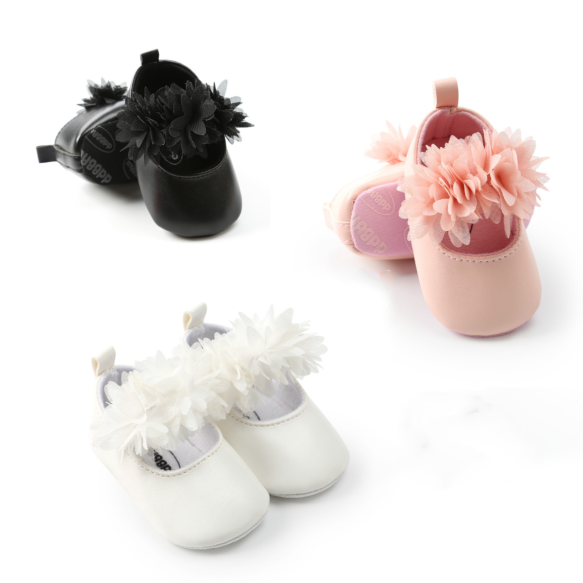 Baby Girl Floral Soft Sole Crib Shoes Newborn Infant Toddler Sneaker First Walkers Anti-Slip Shoes 0-18M