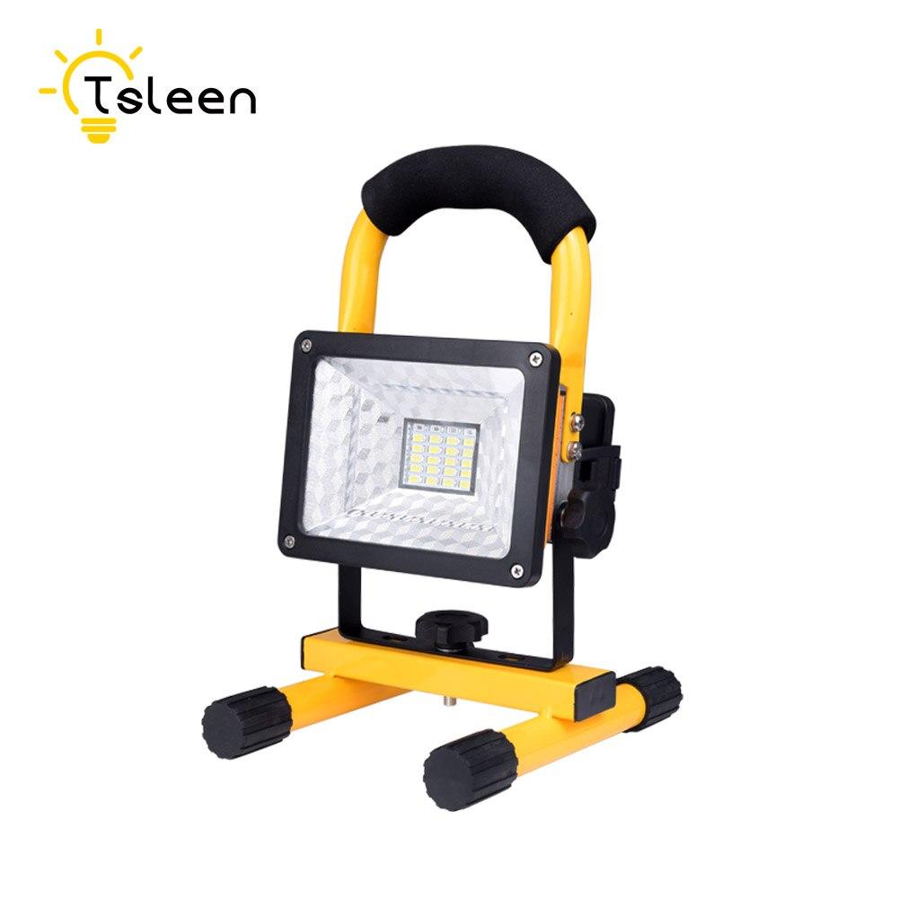 Tsleen Перезаряжаемые Прожекторы 30 Вт 24 светодиодный прожектор стадион отдых ремонт лампы + Зарядное устройство + 3*18650 Батарея