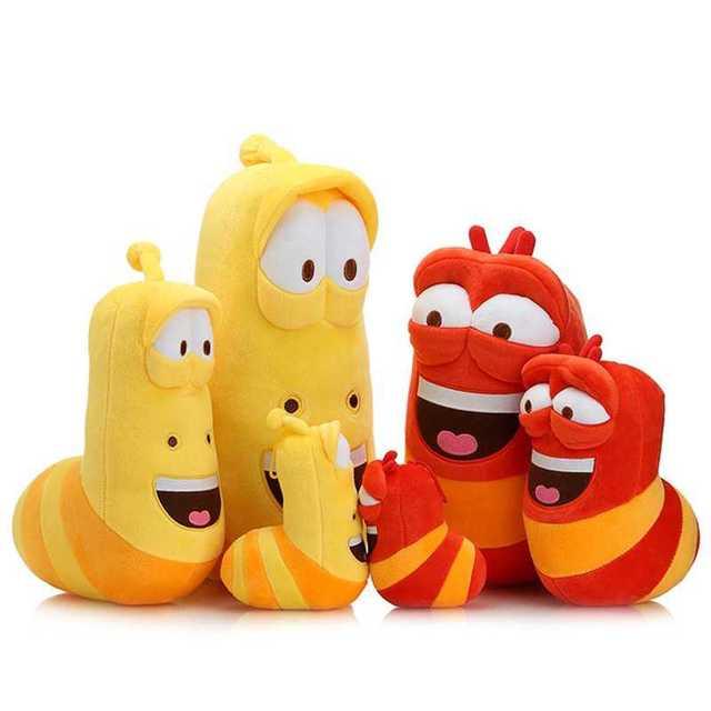 Asli Merek Kartun Larva Mainan Boneka Untuk Anak Anak Natal Hadiah
