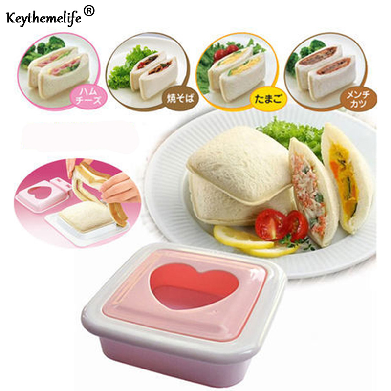 Mixed Boiled Egg Sushi Rice Mold Sandwich Cutter Maker Modelling Bento Tools LD