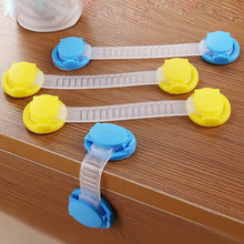 Kids Baby Care Safety Locks Cabinet Door Drawers Refrigerator Toilet Blockers Safety Plastic Children Protection Lock