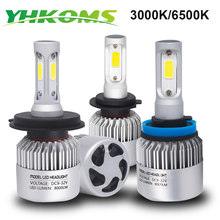 YHKOMS 6500K 3000K H4 H7 H11 H1 H3 H8 H9 H16 9005 9006 880 5202 H13 LED White Yellow LED Lamp Auto Fog Light Car Headlight 12V(China)