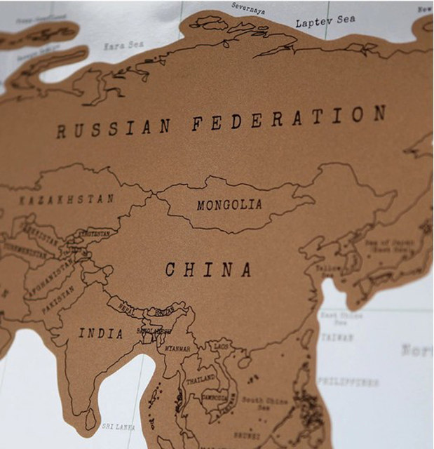 Online Shop Travel Scratch Off Map Personalized World Map Poster - National geographic world maps for sale