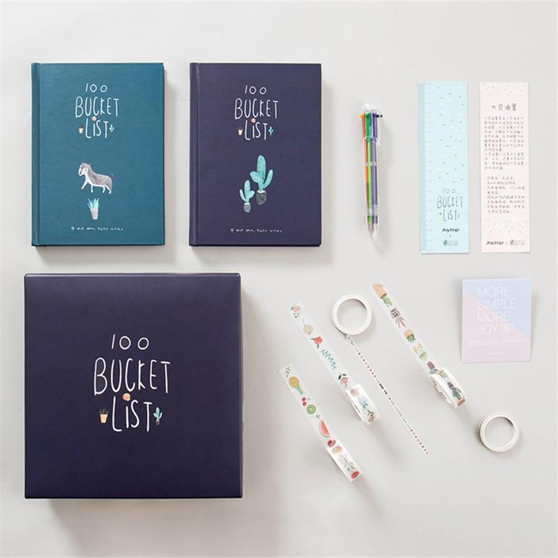 2019 Korean Stationery Cute Journal 100 Bucket To Do List Notebook Planner  Diary Agenda Notepad School & Office Supplies Gift