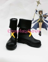 Magical Girl Lyrical Nanoha Hayate Yagami Cosplay Shoes Boots Hand Made Custom Made For Halloween Christmas