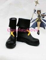Magical Girl Lyrical Nanoha Hayate Yagami Cosplay Shoes Boots Hand Made Custom Made For Halloween Christmas