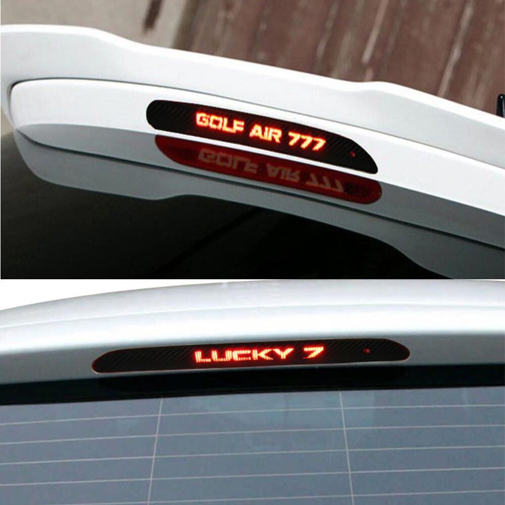 Brake Service Coupons >> For Volkswagen GOLF 7 MK7 GOLF 6 MK6 Carbon Fiber Brake Light Car Sticker Rear Braking Light ...
