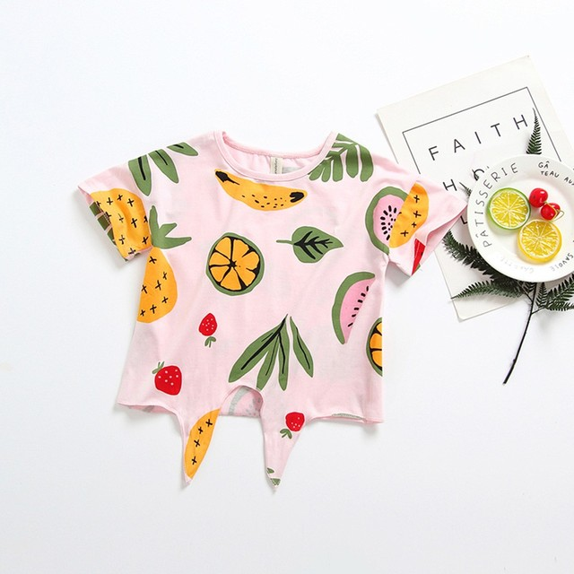 Summer Baby's Fruit Printed T-Shirts