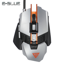 E-3LUE Professional Gaming Mause Mechanical Mouse RGB 4000DPI 7 Buttons Optical Macro Programming USB Wired Mice for PC Laptop