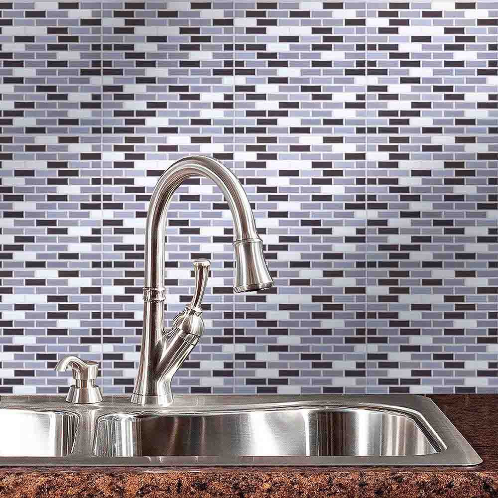 US $1.56 48% OFF|New Simple Wall Stickers 3D Tiles Mosaic 10x10 Inch  Backsplash Tiles for Bathrooms and Kitchens Wall Tile wall decor adesivo-in  Wall ...
