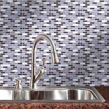Neue Einfache Wand Aufkleber 3D Fliesen Mosaik 10x10 Inch Backsplash Fliesen  Für Badezimmer Und Küchen Wand Fliesen Wand Decor A.