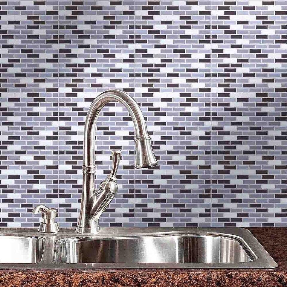 - New Simple Wall Stickers 3D Tiles Mosaic 10x10 Inch Backsplash