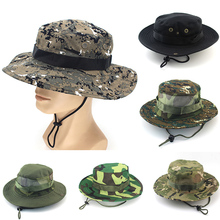 48c927e7bc026 BONJEAN Unisex Casual Camouflage Bucket Hat With String Summer Men Women  Sun Hats