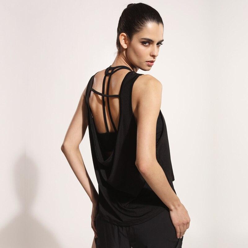 Sexy Open Back Top Sports Yoga Shirt Sleeveless Women Vest