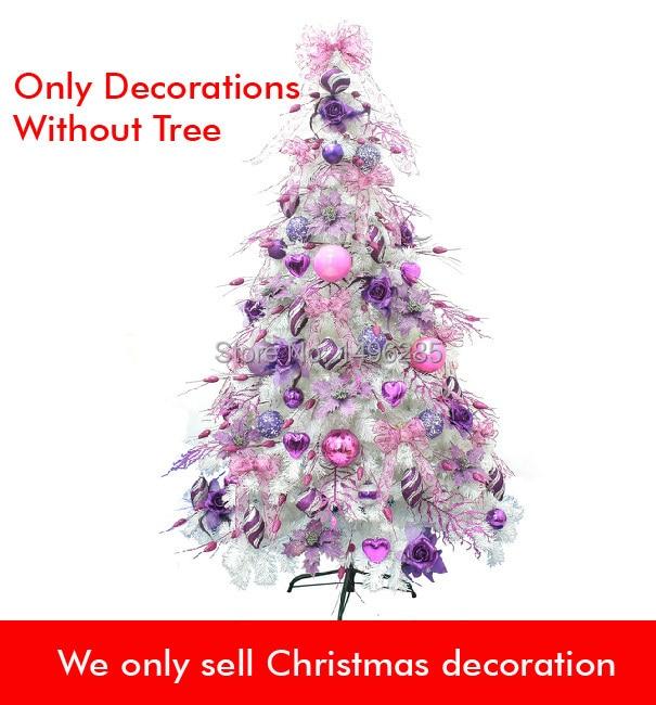 comprar rbol de navidad ornamento accesorios conjunto rosa prpura para cm blanco rbol de navidad envo gratis de
