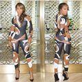 Inverno sexy impressão mulheres Jumpsuit macacão elegante macacão