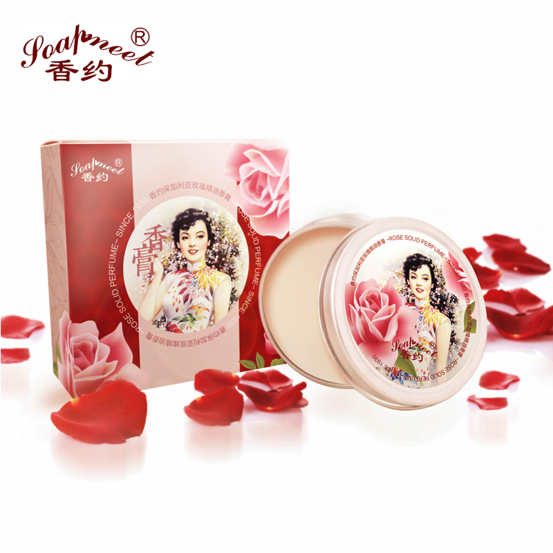 Bulgarian rose oil perfume fragrance about Ms. lasting solid fragrance for women 12g