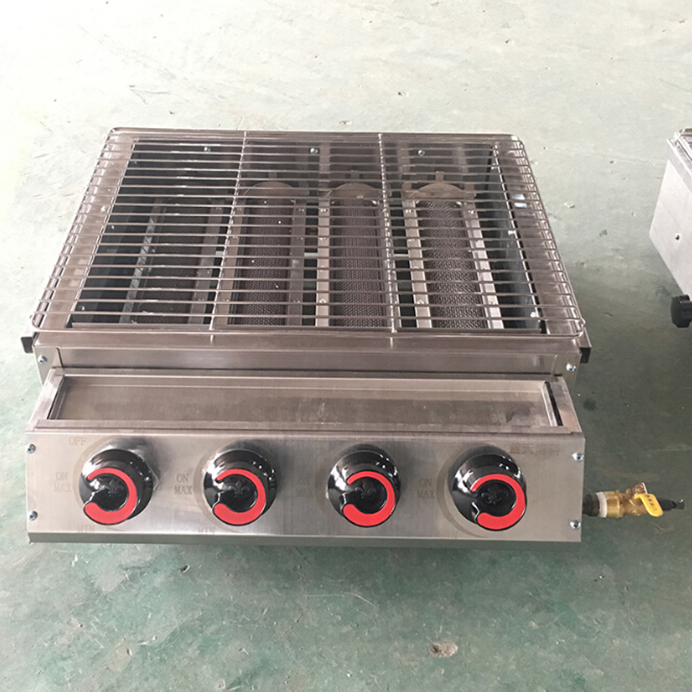 High Quality 4 Burners Gas BBQ Grills Stainless Steel LPG Grills Griddle Machine barbecue grill for outdoor churrasqueira High Quality 4 Burners Gas BBQ Grills Stainless Steel LPG Grills Griddle Machine barbecue grill for outdoor churrasqueira