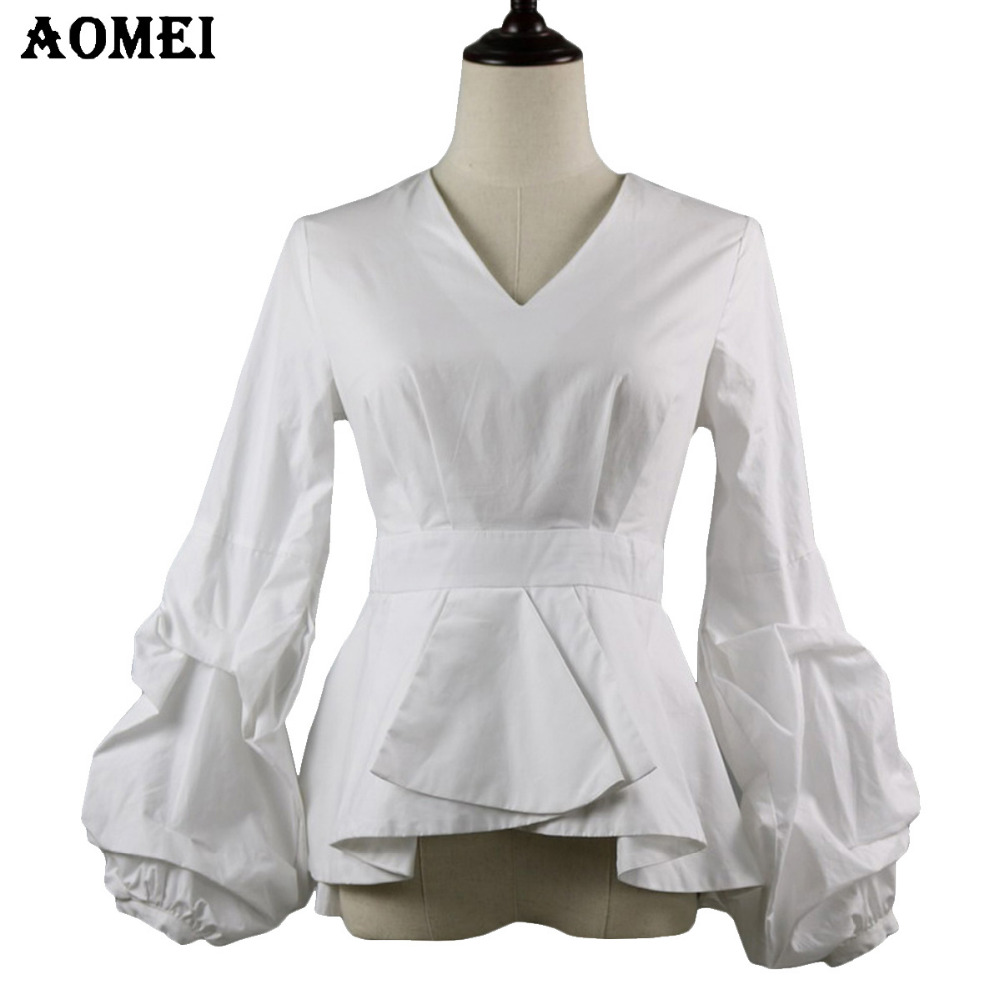 Puff Sleeve White Blouse